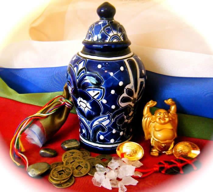 símbolos budistas El jarrón precioso