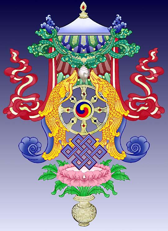 símbolos budistas La sombrilla