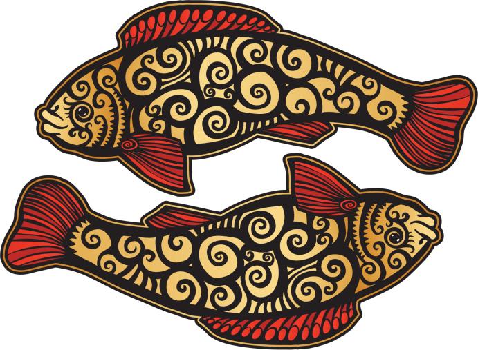 símbolos budistas Los peces dorados