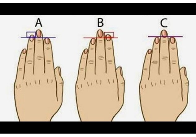 tamaño de los dedos